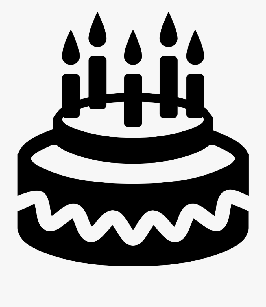 Clipart birthday icon. Candles png images black