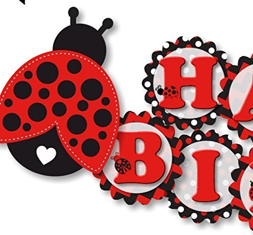 Banner party decoration for. Ladybug clipart birthday