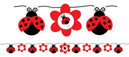 Fancy st party supplies. Birthday clipart ladybug