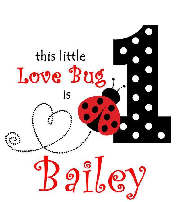 Birthday clipart ladybug. Digital download iron on