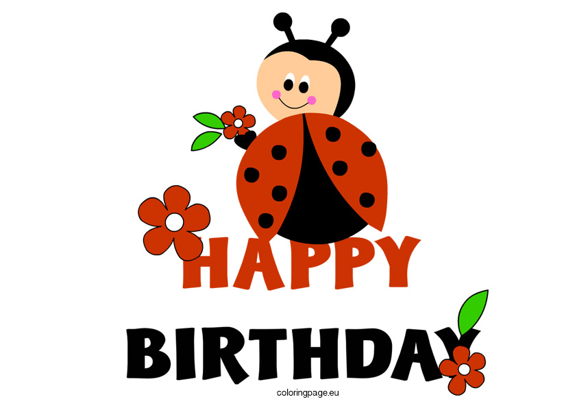 Ladybug happy clip art. Ladybugs clipart birthday