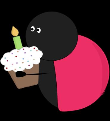 Party clip art . Birthday clipart ladybug