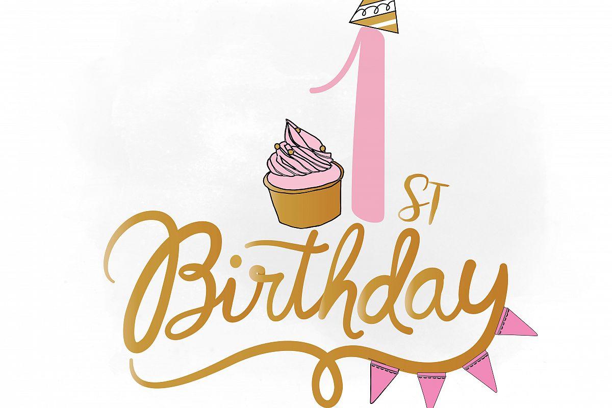 st svg baby. Birthday clipart logo