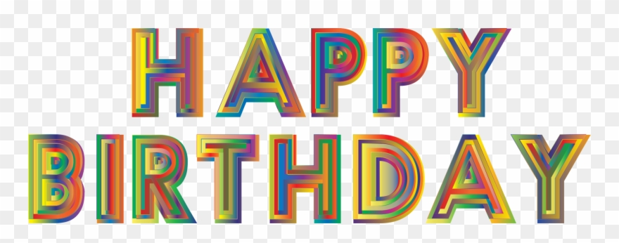 Typography computer icons png. Birthday clipart logo
