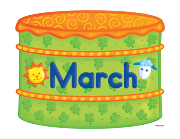 Cake printable clip art. Birthday clipart march