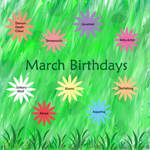 Birthday clipart march. Birthdays by beyblade lovers
