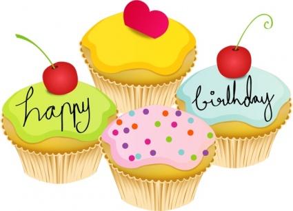 May happy world . Birthday clipart muffin