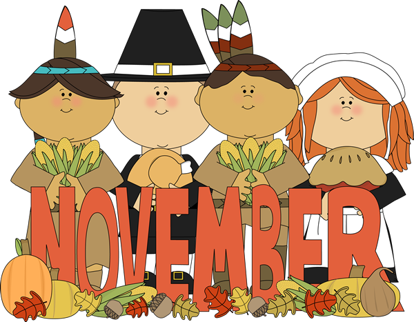 Month of pilgrims and. November clipart