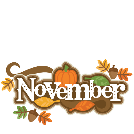 November clipart.  collection of birthday