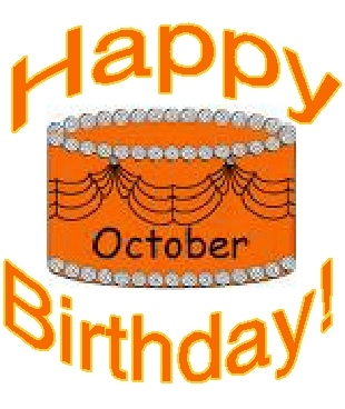 collection of happy. Birthday clipart october