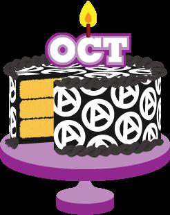Political prisoners birthdays prison. Birthday clipart october
