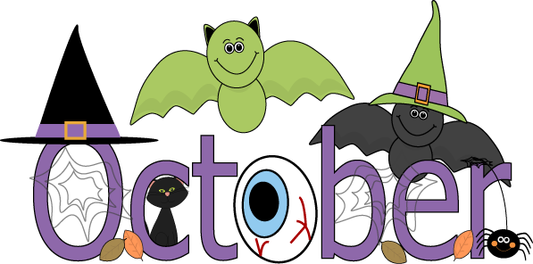 Birthday clipart october. Fun month of halloween