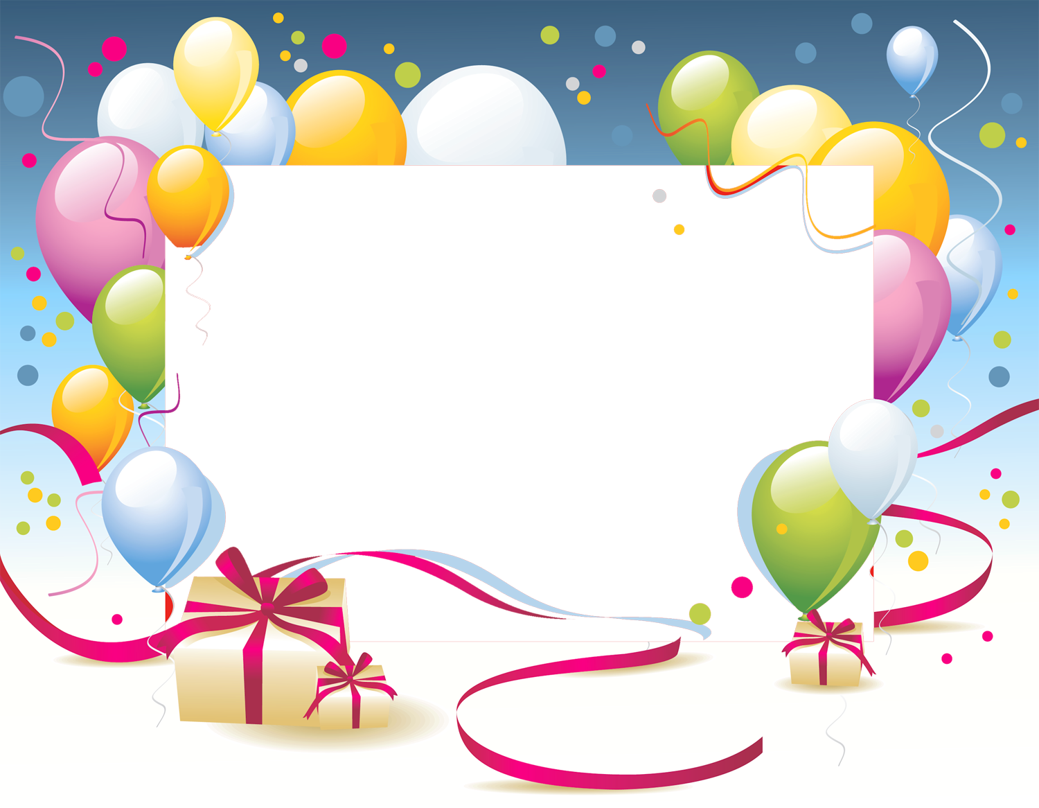 Birthday clipart picture frame. Transparent png photo gallery