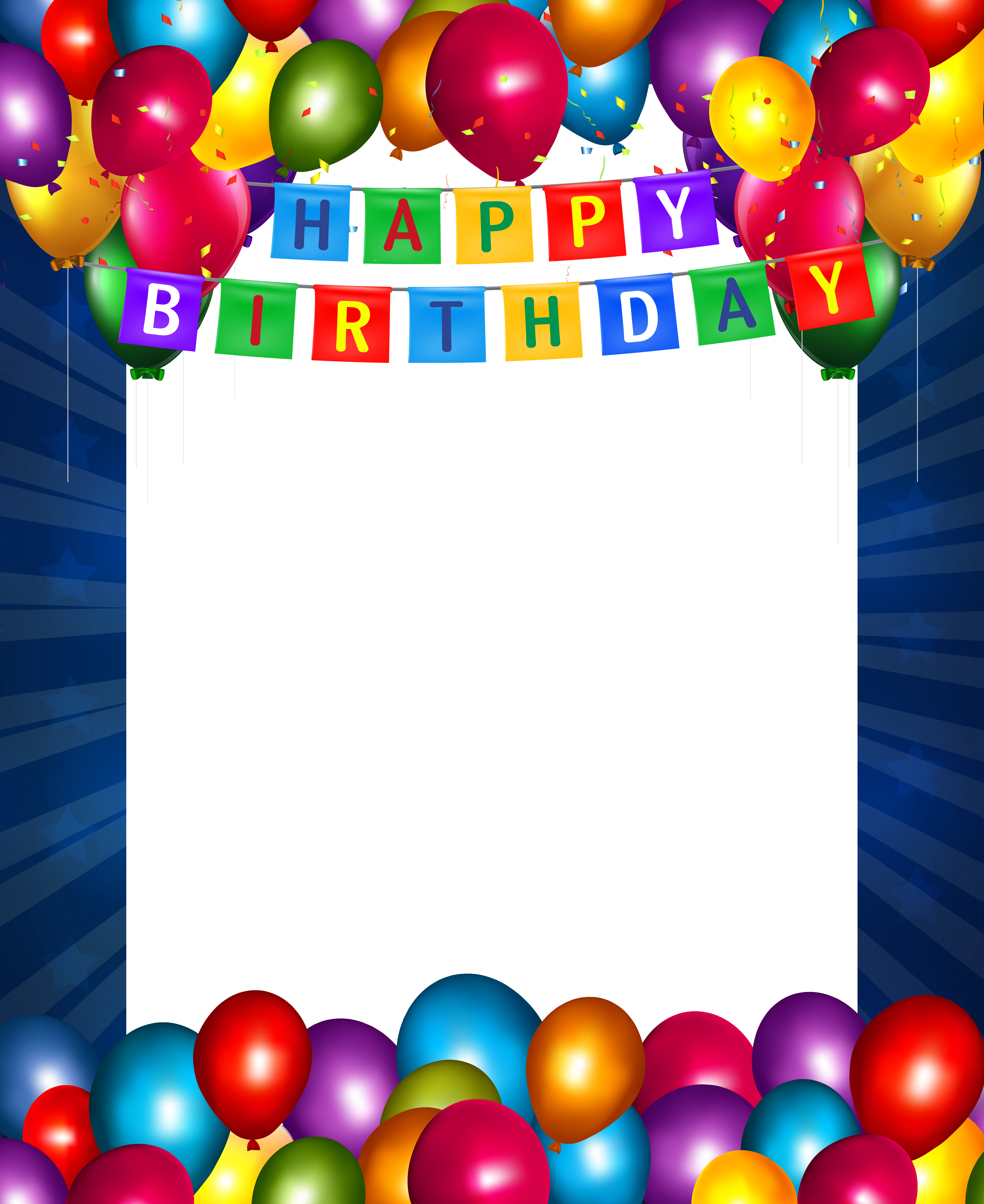Happy blue transparent png. Birthday clipart picture frame
