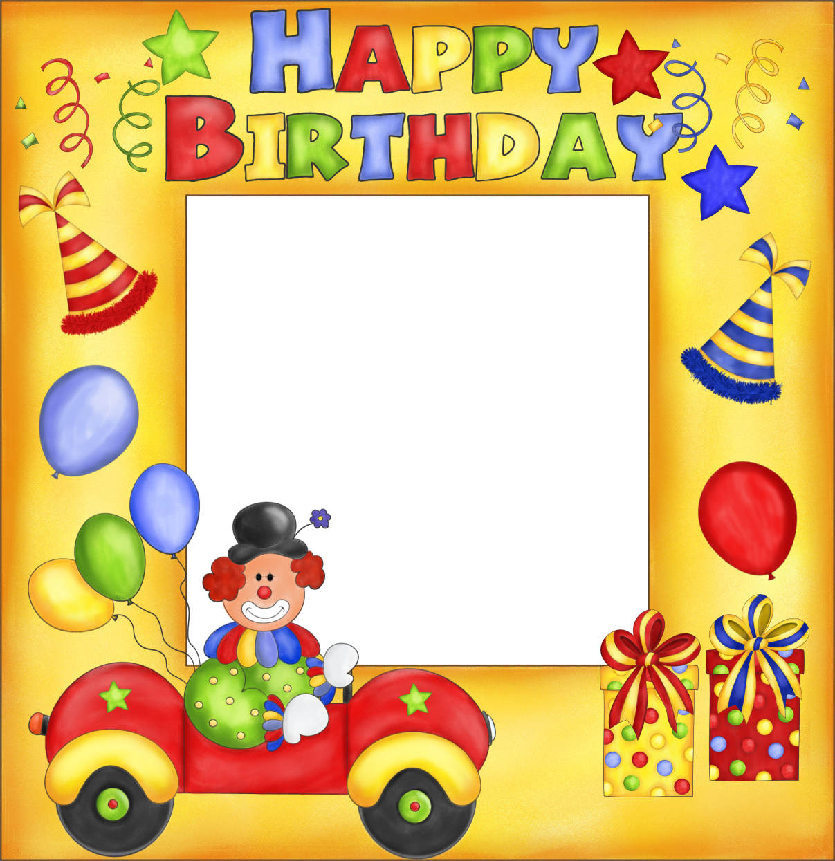 Images of myspace baby. Birthday clipart picture frame