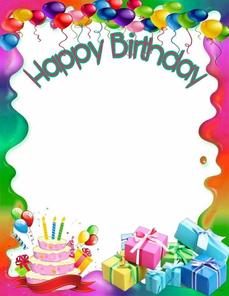 best happy images. Birthday clipart picture frame