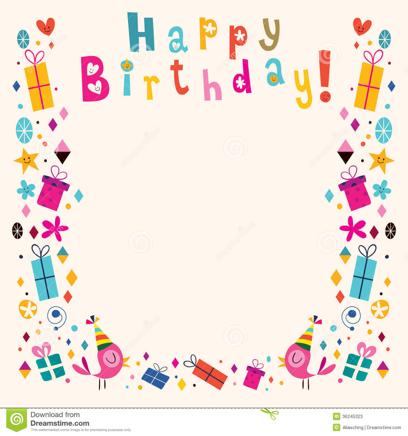 Birthday clipart picture frame. Happy