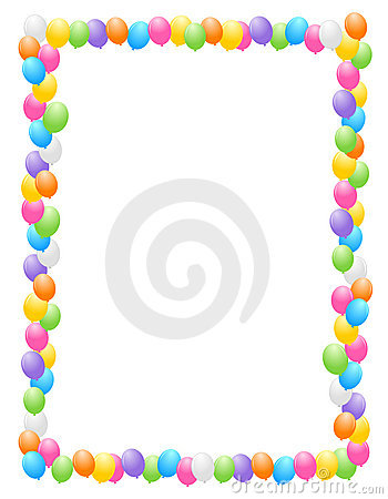 Birthday clipart picture frame. Free borders and frames