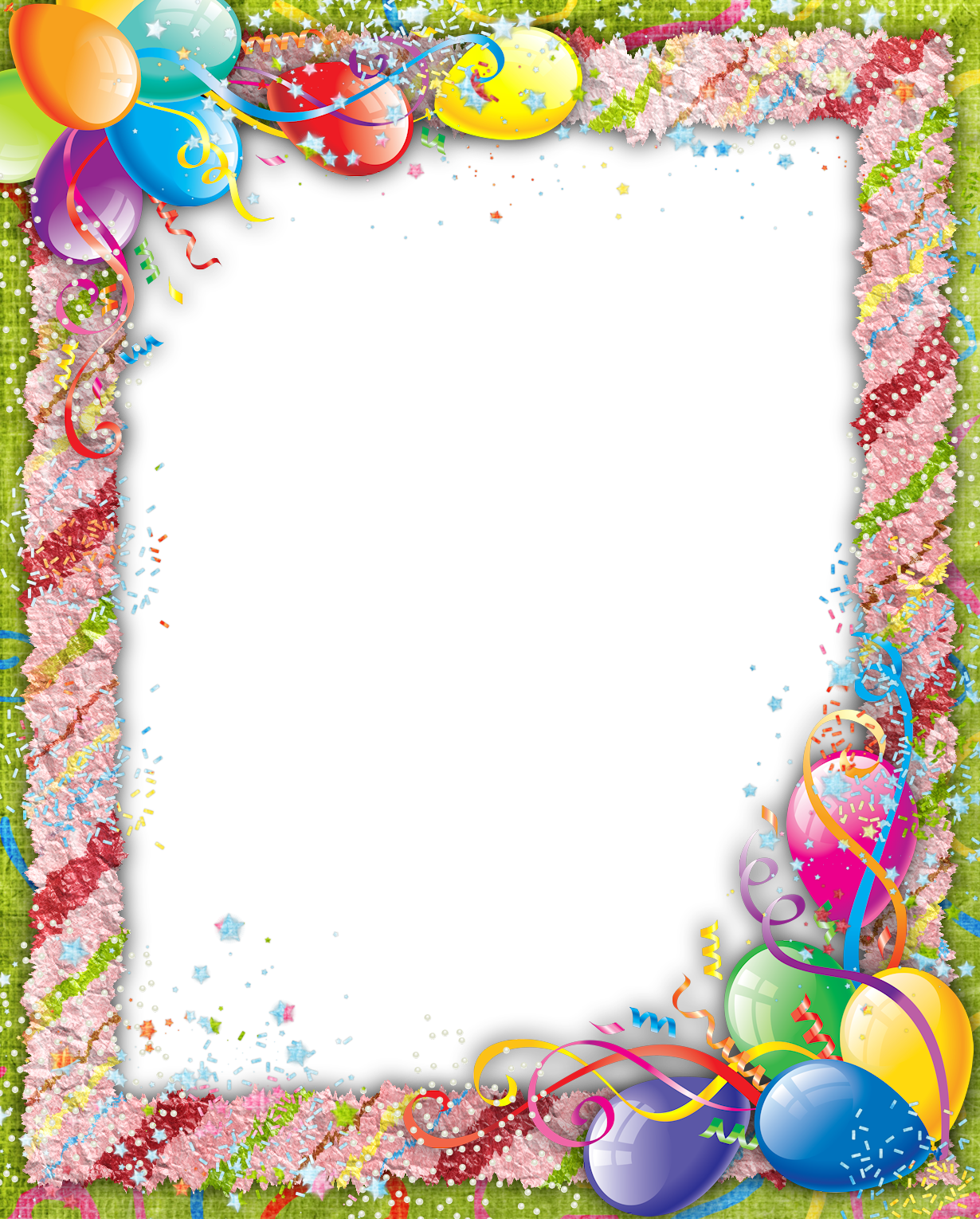 Transparent birthday png marcos. Congratulations clipart frame