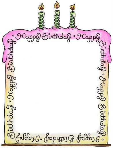 Birthday clipart picture frame. Pin by mara on