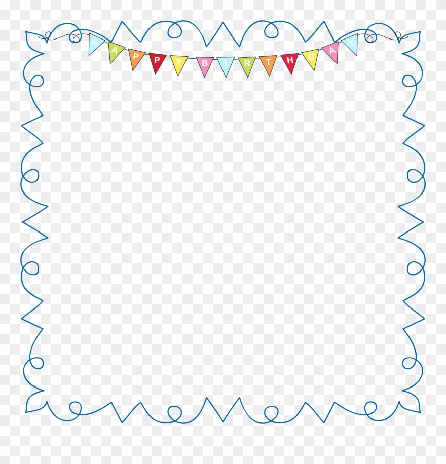 Frames happy ilrations hd. Birthday clipart picture frame