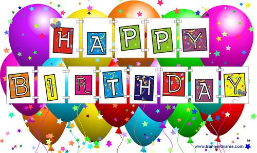 Birthday clipart printable. Free happy banner classroom