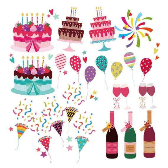 Commercial use . Birthday clipart printable