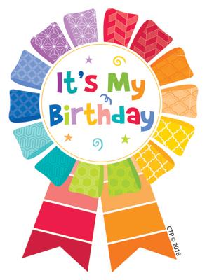 Birthday clipart ribbon. Dominie it s my