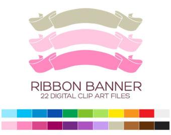 Clip art banner border. Birthday clipart ribbon