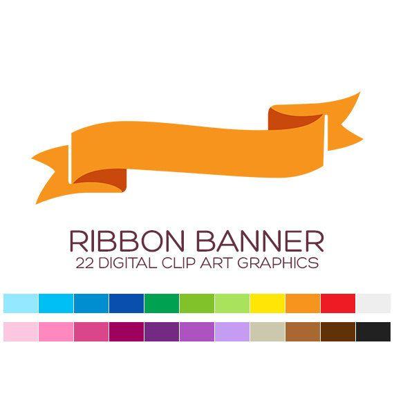 Banner digital frames and. Birthday clipart ribbon