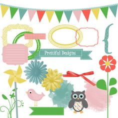 Owls commercial use pinterest. Birthday clipart ribbon