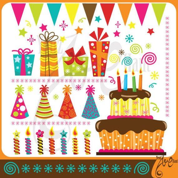 Birthday clipart scrapbook. Party clip art