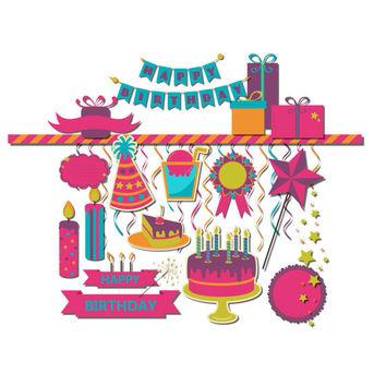 Shop happy on wanelo. Birthday clipart scrapbook