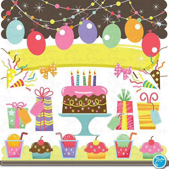 Birthday clipart scrapbook. Clip art baby party