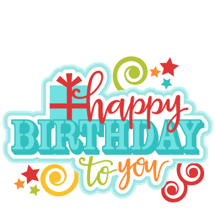 Birthday clipart scrapbook. Happy to you title