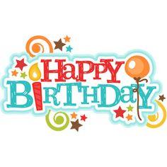 Happy title svg scrapbook. Birthday clipart silhouette
