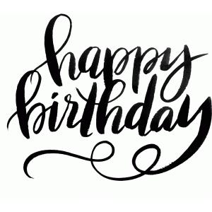 Birthday clipart silhouette. Design store view happy