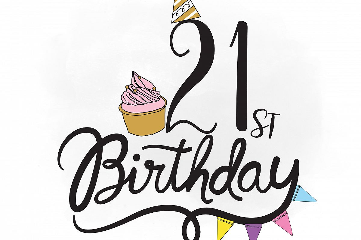 st svg quo. Birthday clipart silhouette