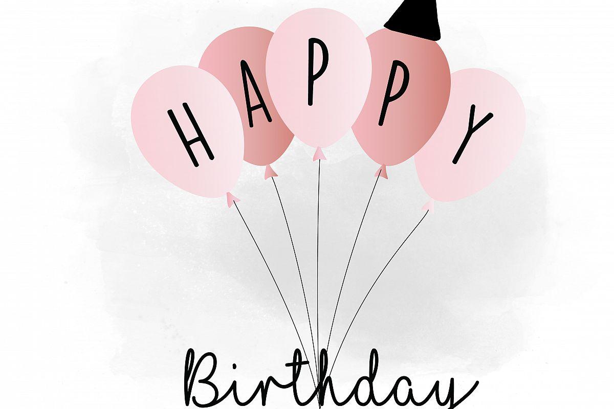 Happy svg qu design. Birthday clipart silhouette