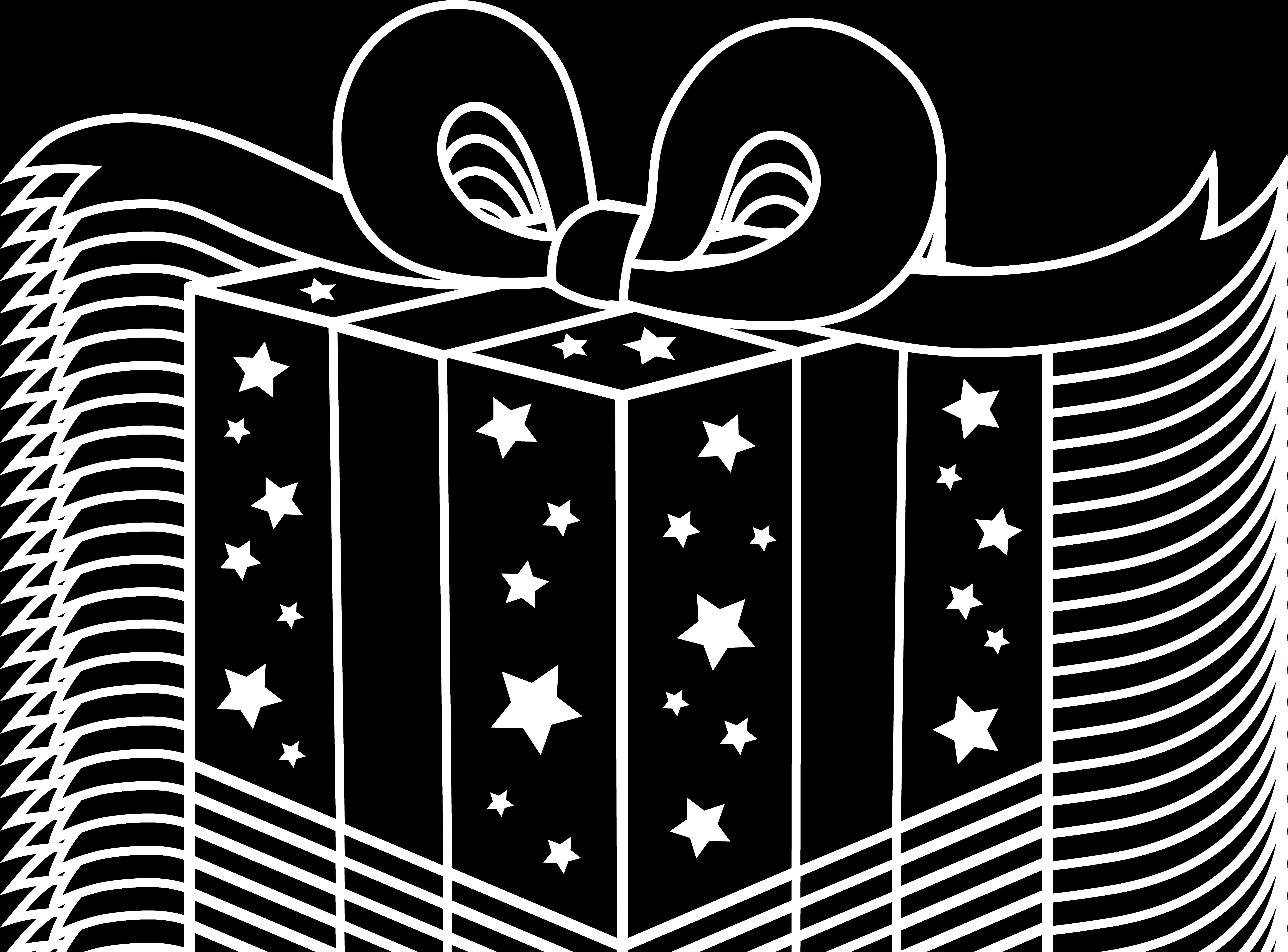Birthday . Clipart present silhouette