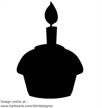 Cake at getdrawings com. Birthday clipart silhouette