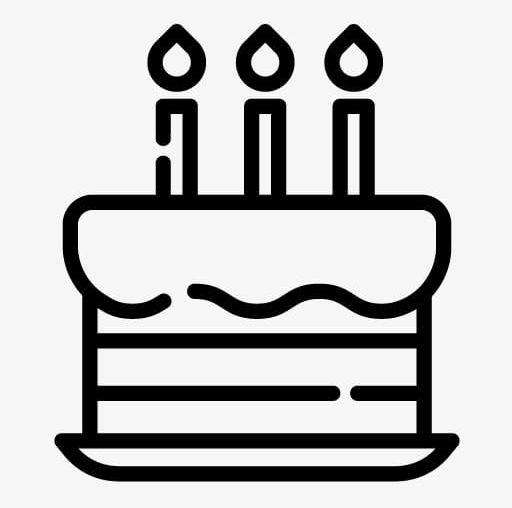 Drawing png birthday party. Clipart cake simple