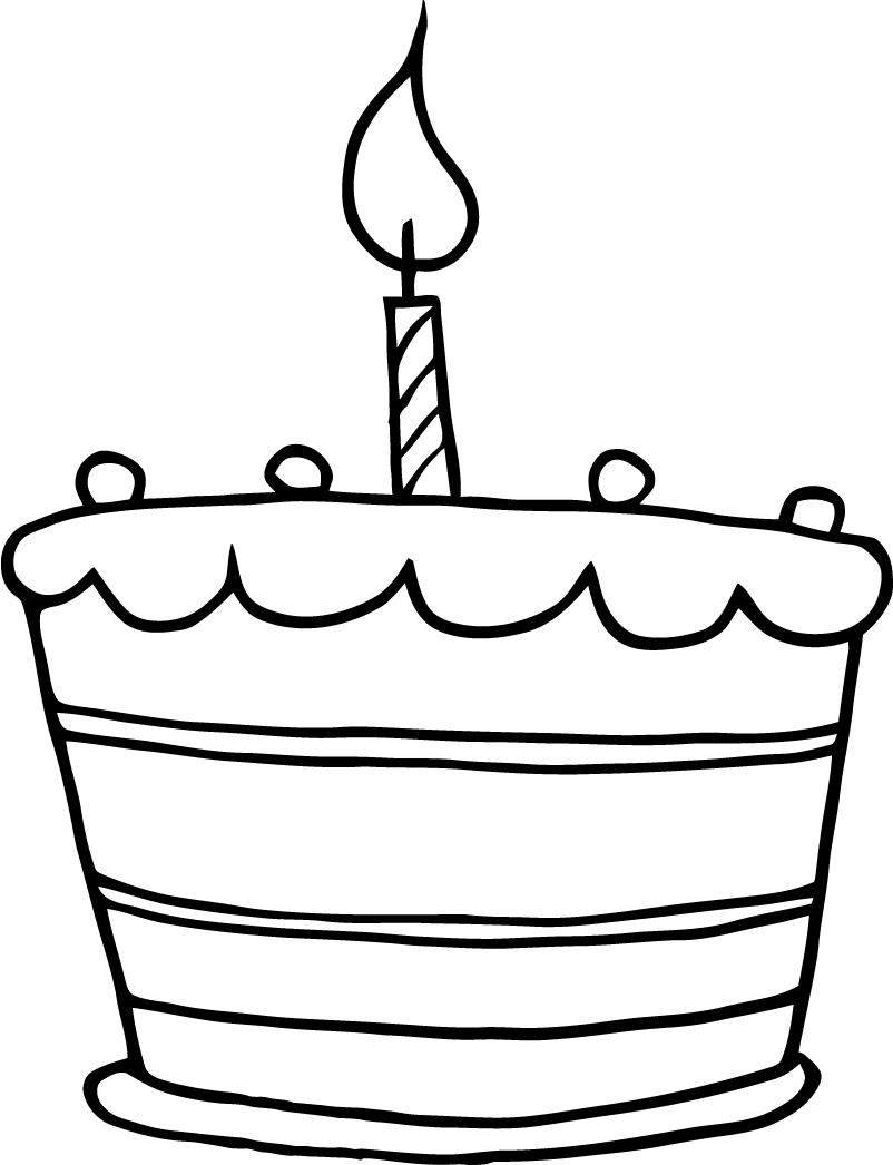 Clipart cake drawing. Simple drawings