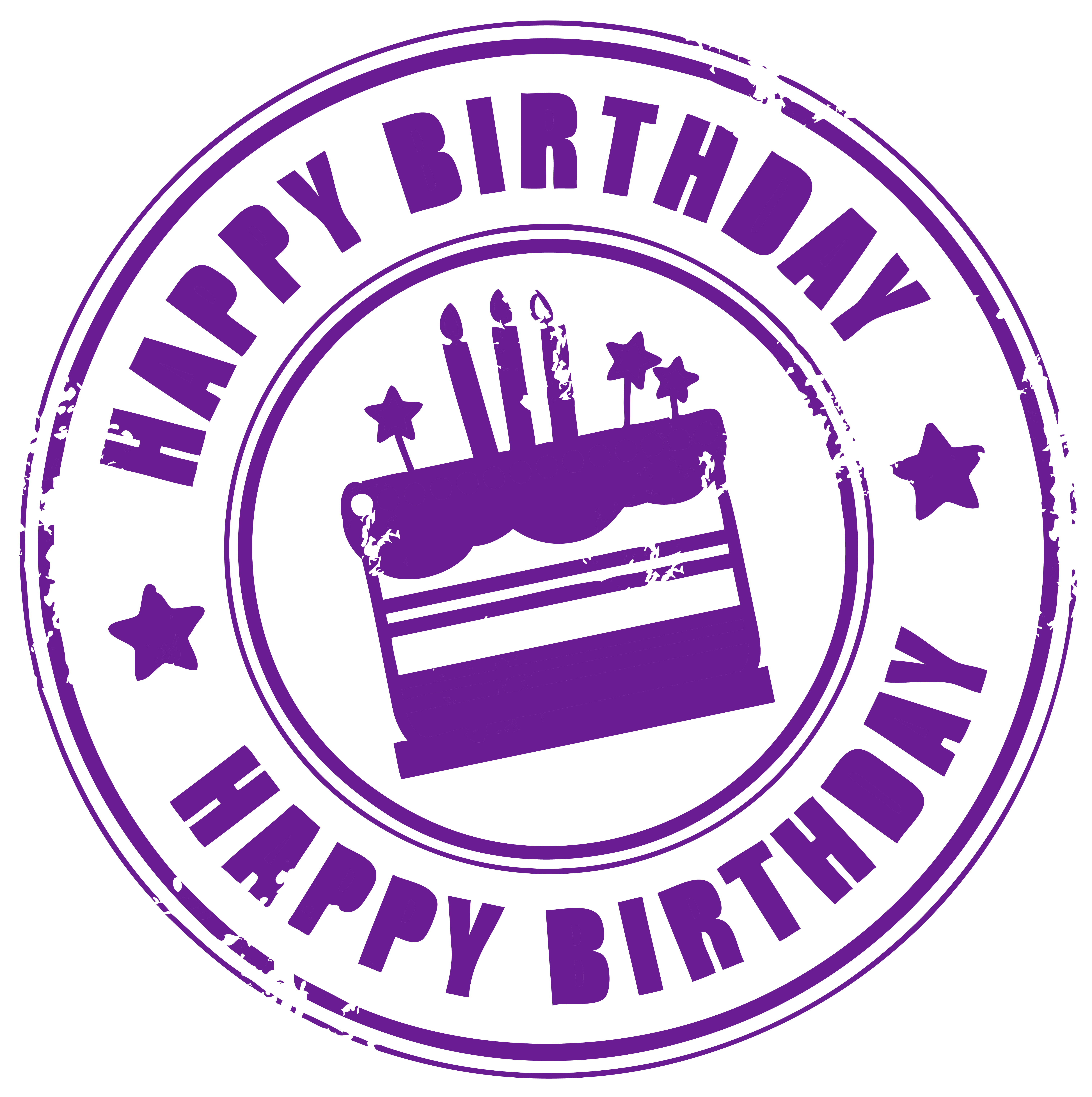 circle clipart happy birthday