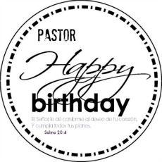 Birthday clipart stamp. Yahoo happy pastor