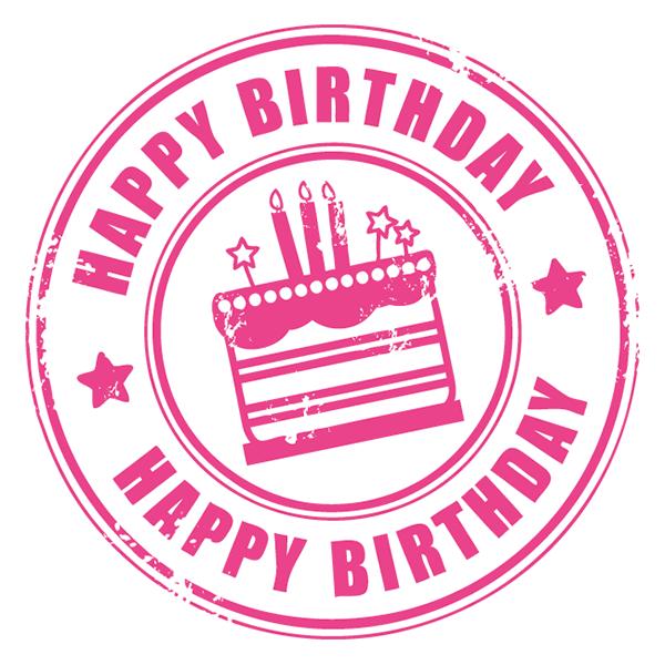 birthday clipart stamp