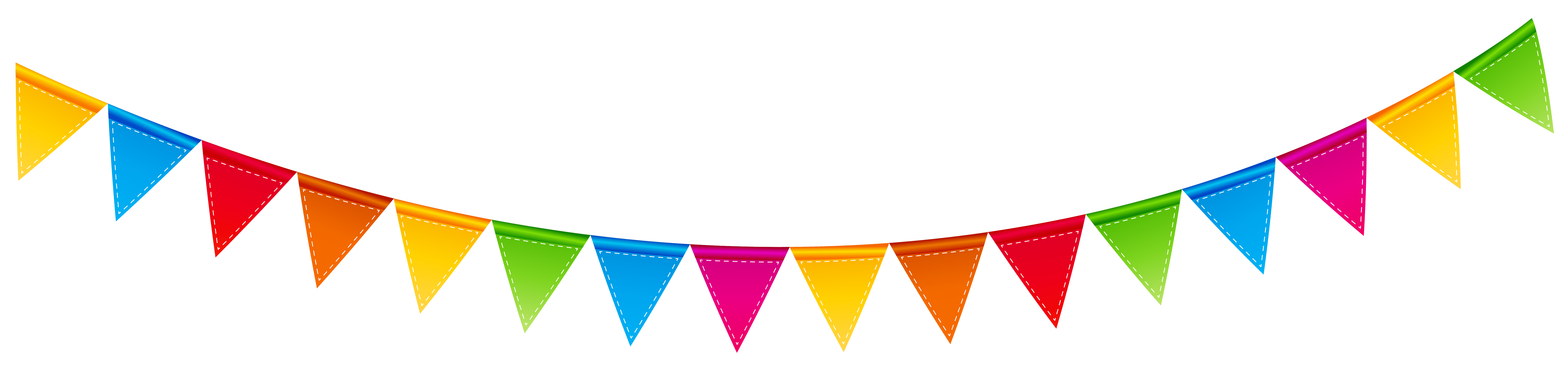 Birthday streamer transparent png. R clipart colorful