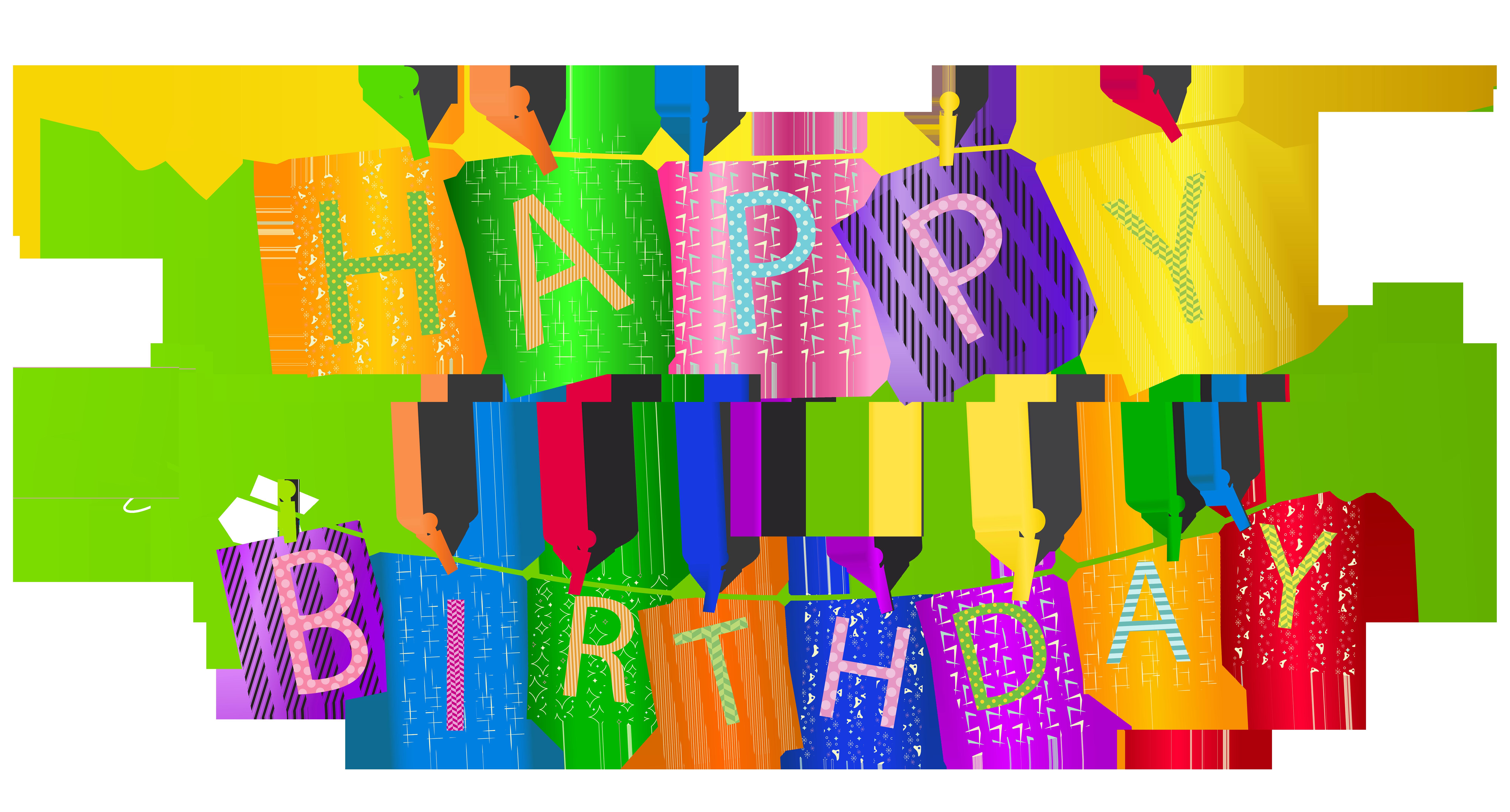 Happy png clip art. Birthday clipart streamer