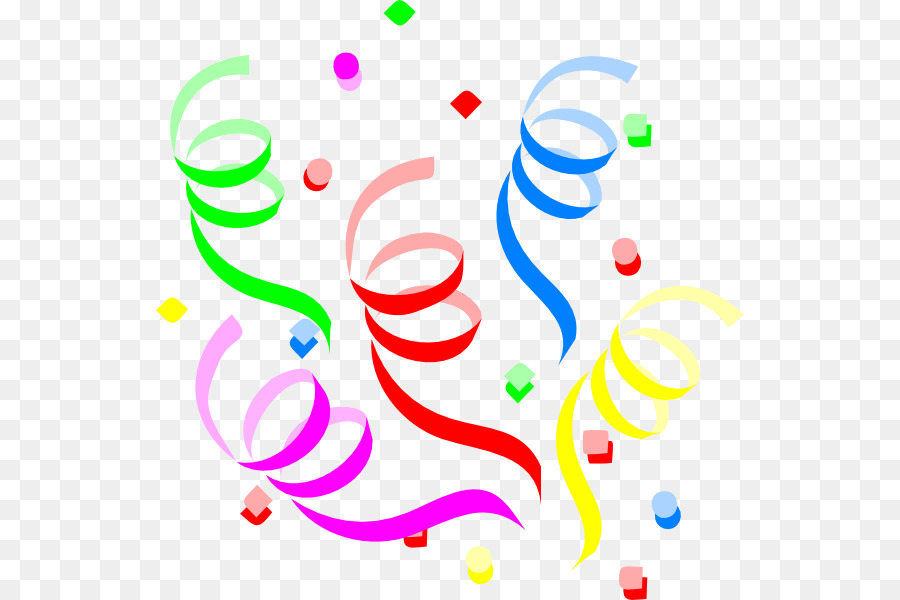 Birthday cake serpentine streamer. Streamers clipart