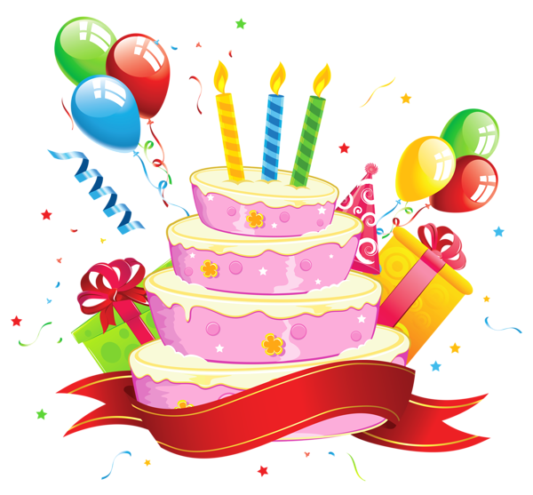 December clipart happy birthday. Cake transparent gallery yopriceville